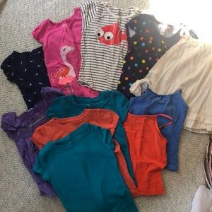 Huge lot of girls tees, size 4T-XS